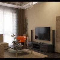 вариант яркого интерьера 2 комнатной квартиры фото пример