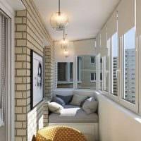 идея красивого дизайна маленького балкона фото