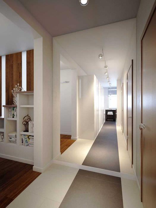идея красивого дизайна кухни 3-х комнатной квартиры