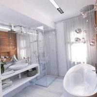 идея необычного дизайна ванной комнаты фото