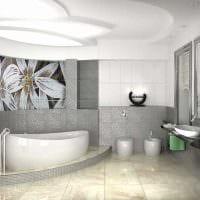 вариант яркого интерьера ванной в квартире картинка