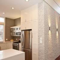 вариант яркого стиля квартиры с декоративной штукатуркой картинка