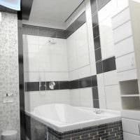 вариант красивого дизайна белой ванной комнаты картинка