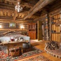 вариант оригинального интерьера дома в деревне картинка