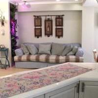 идея оригинального дизайна гостиной 3-х комнатной квартиры картинка