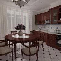 вариант необычного интерьера кухни картинка