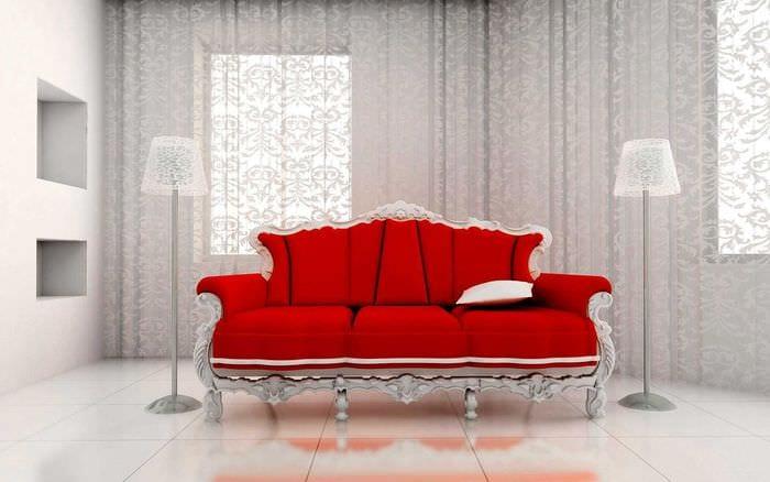 идея современного декора квартиры с диваном