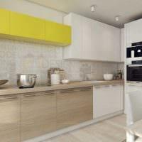 вариант необычного декора кухни 3-х комнатной квартиры фото