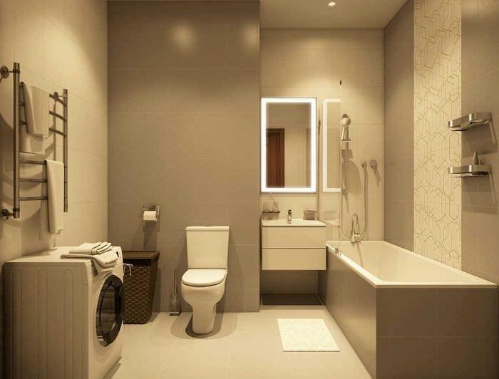 идея красивого дизайна ванной комнаты