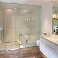 вариант красивого интерьера ванной комнаты картинка