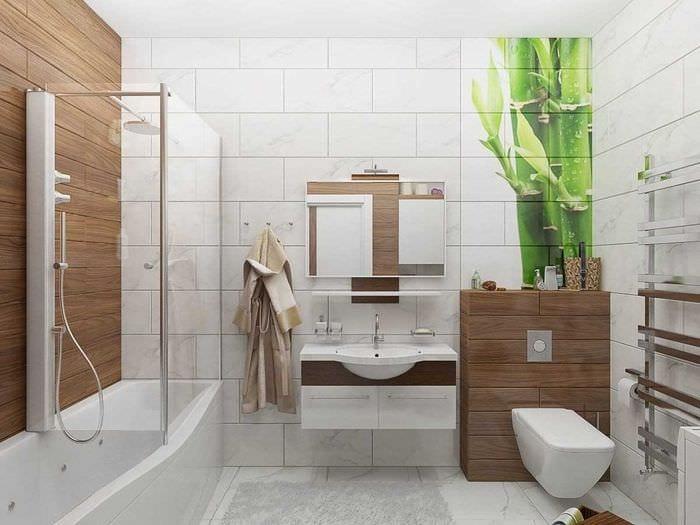 идея оригинального интерьера ванной комнаты