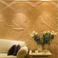 вариант необычного фасада комнаты с декоративной штукатуркой картинка