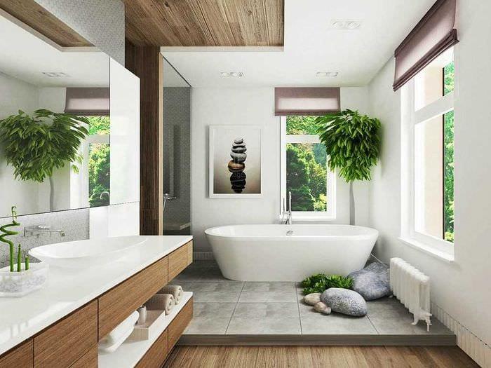 идея оригинального дизайна ванной комнаты