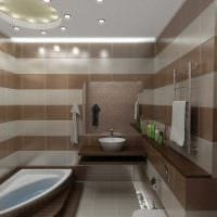 идея оригинального интерьера ванной комнаты в квартире картинка