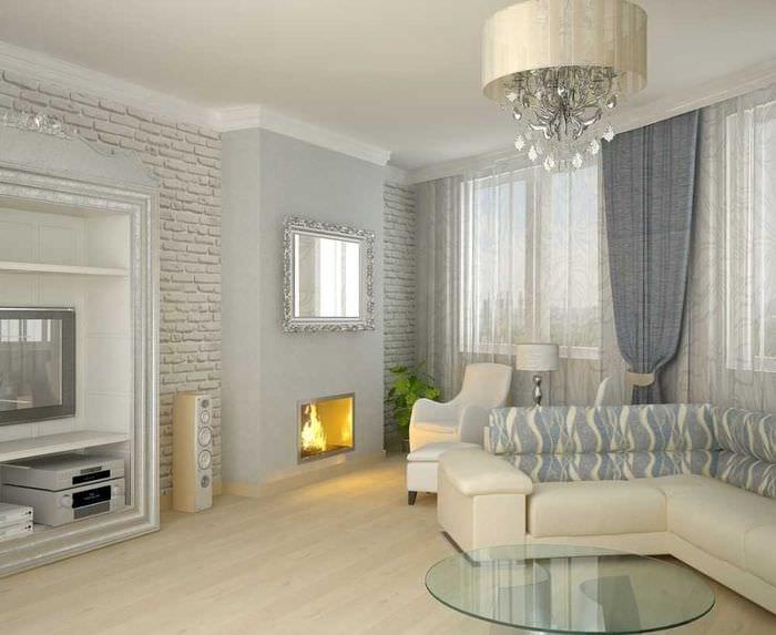 Современный стиль в декорировании стен гостиной: 75 фото, видео