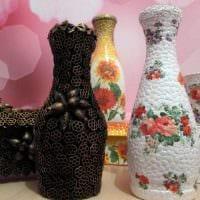 вариант яркого оформления напольной вазы картинка