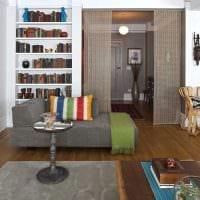 вариант оригинальных декоративных штор в дизайне квартиры картинка