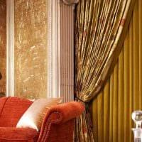 идея красивых декоративных штор в дизайне квартиры картинка