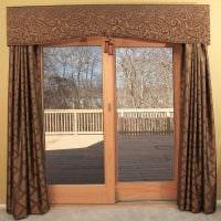 идея красивых декоративных штор в стиле комнаты картинка