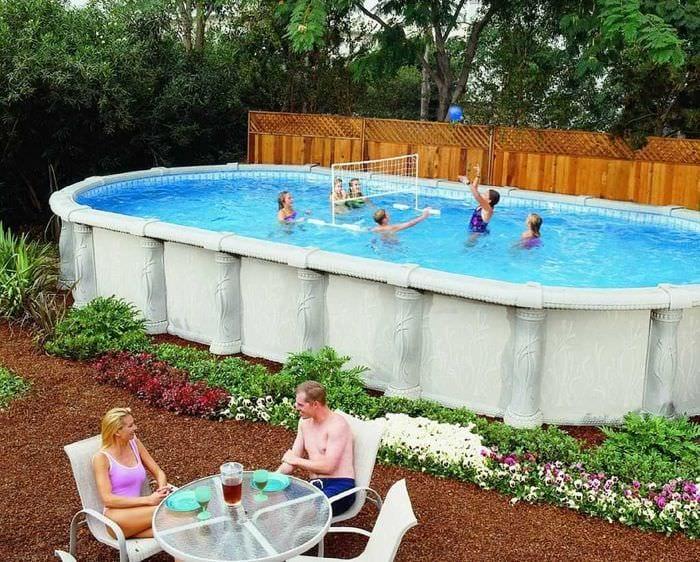 идея красивого стиля маленького бассейна
