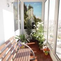 идея красивого интерьера небольшого балкона фото