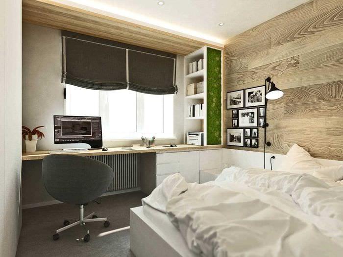 вариант оригинального дизайна кухни 3-х комнатной квартиры