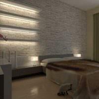 идея необычного декоративного камня в дизайне комнаты фото
