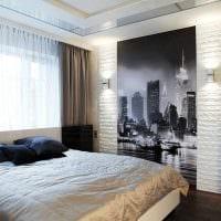 идея яркого декоративного камня в интерьере комнаты картинка