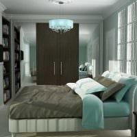 идея яркого декорирования стиля спальной комнаты фото