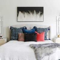 идея оригинального декорирования дизайна спальни картинка