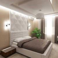 вариант оригинального декорирования дизайна спальной комнаты фото
