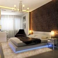 вариант красивого декорирования интерьера спальной комнаты картинка