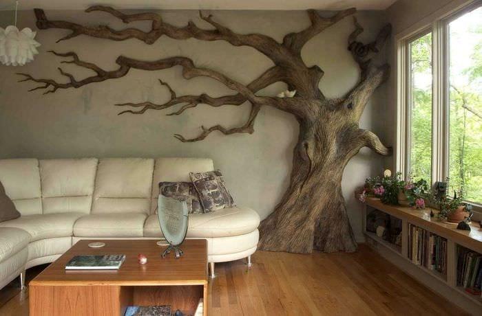Необычный декор стен своими руками фото
