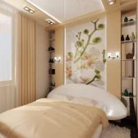 вариант яркого декорирования дизайна спальной комнаты картинка