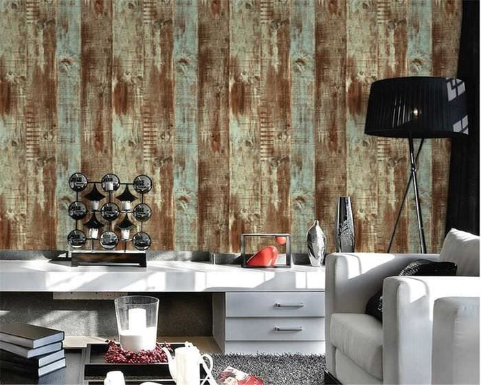 идея необычного дерева в интерьере комнаты