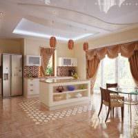 вариант яркого интерьера кухни картинка