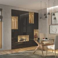 вариант яркого интерьера гостиной комнаты 17 кв.метров картинка
