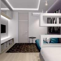 вариант красивого дизайна спальни 3-х комнатной квартиры фото