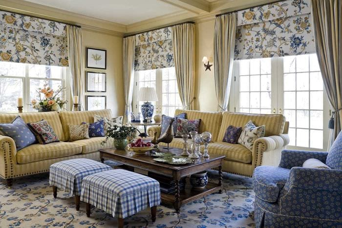вариант красивого дизайна спальни в деревенском стиле