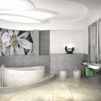 вариант оригинального интерьера ванной фото