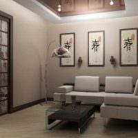 вариант оригинального дизайна гостиной комнаты 17 кв.метров картинка
