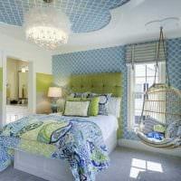 вариант оригинального дизайна спальни для девочки картинка
