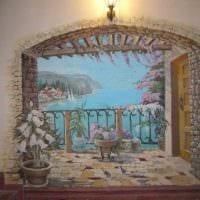 вариант необычного декора комнаты с декоративным рисунком на стене фото