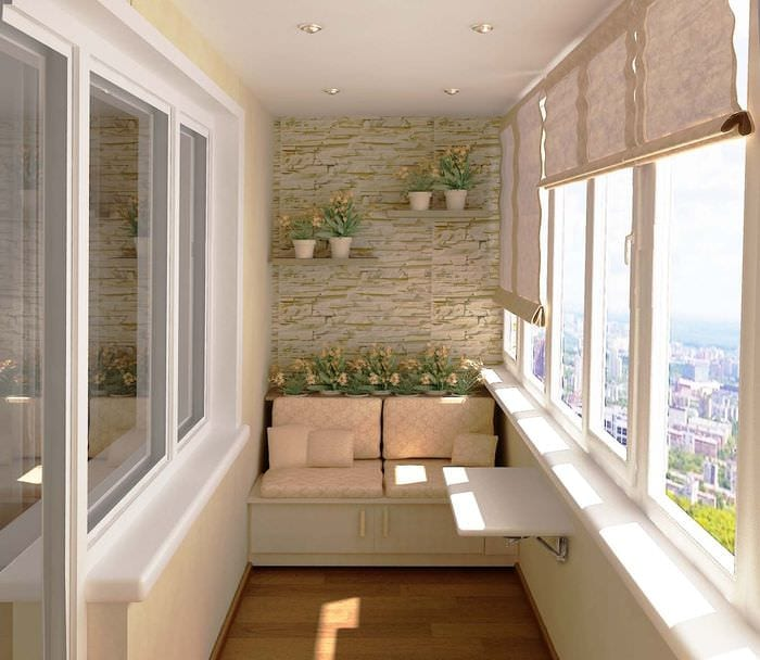вариант современного дизайна маленького балкона