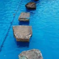 вариант оригинального стиля маленького бассейна картинка