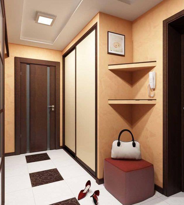 идея яркого дизайна коридора