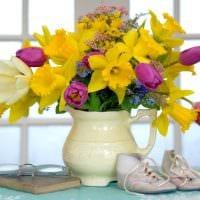 идея оригинального украшения напольной вазы картинка