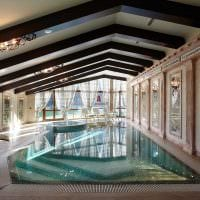 вариант красивого стиля маленького бассейна фото
