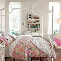 идея цветной декора спальни для девочки фото