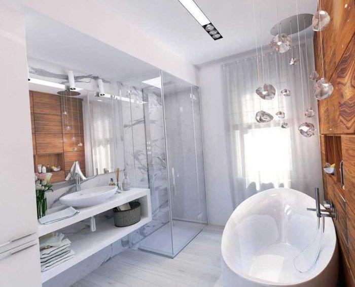 вариант оригинального дизайна ванной